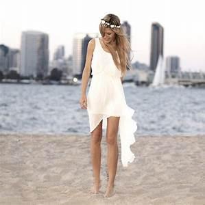 casual short wedding dress for the beach dresses trend With short white beach wedding dresses