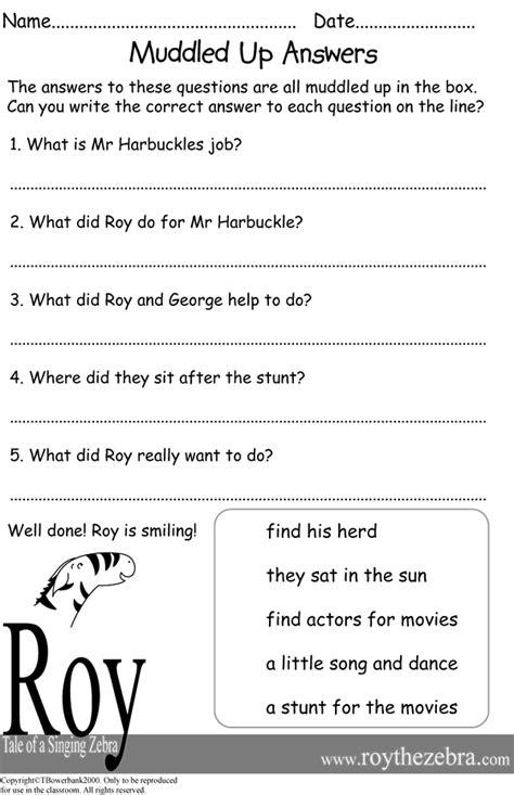literacy worksheet year 4 kidz activities