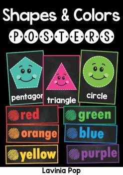 chalkboard posters shapes  colors  lavinia pop tpt