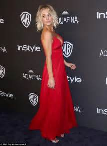 Kaley Cuoco Red Dress