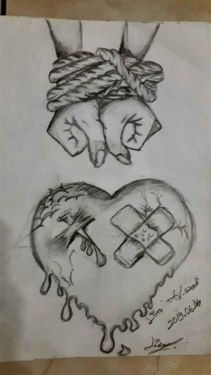Meaningful Drawing Drawings Dibujos Easy Cool Sad
