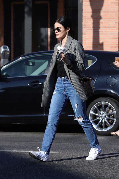 They have the perfect caffeine drinks hot or cold, and atmosphere to get you going in the morning. LUCY HALE Leaves Alfred's Coffee in Studio City 11/11/2019 - HawtCelebs
