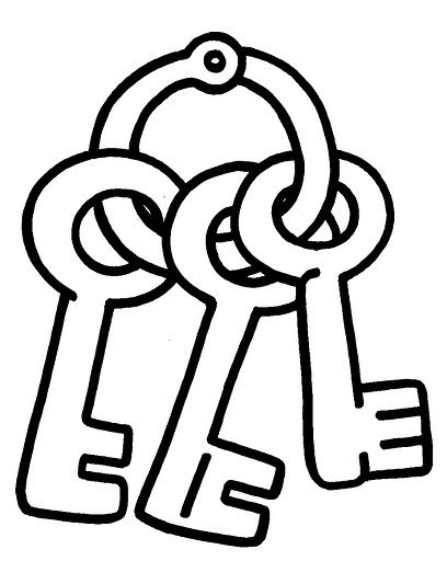 key coloring page coloring pages