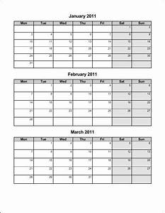 6 best images of 4th quarter 2015 calendar printable With 3 month calendar template 2014