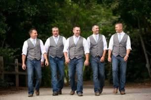Blue Jean Wedding Groomsmen