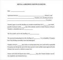 Free Blank Rental Lease Agreement Form