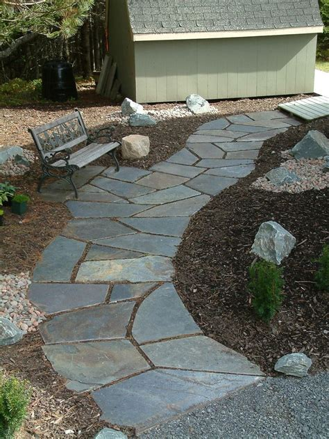 flagstone walkway flagstone pavers pinterest