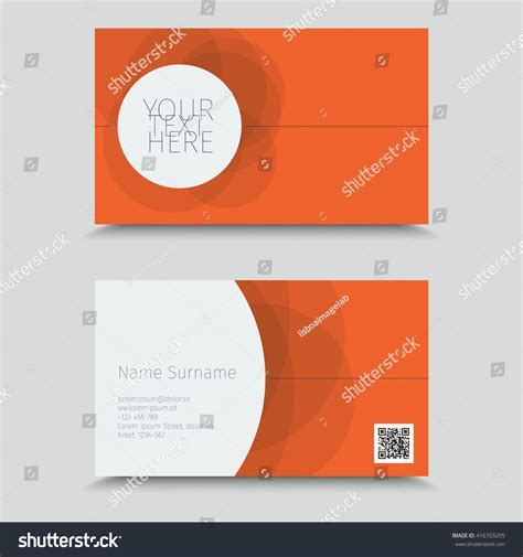visit card qr code business card stock vector