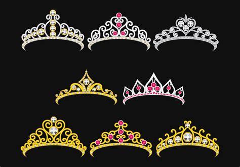 set  princesa crownn   vectors clipart