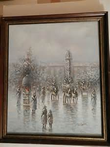 gaston  listed artist fine art oil painting french