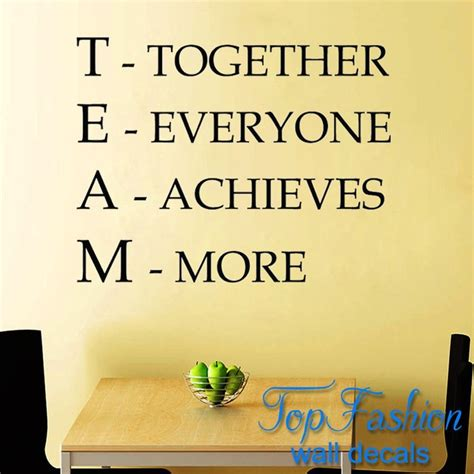 team motivational quote office wall sticker