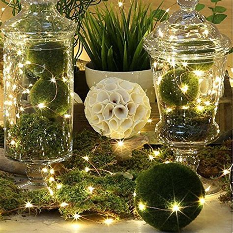 lights fairy string led wire warm battery operated christmas micro wedding silver ft hanging decor centerpiece prices