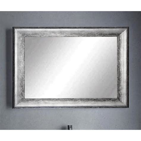 Silver Wall Mirrors Decorative - midnight silver decorative framed wall mirror bm039l2