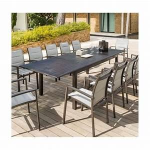 Table Jardin 12 Personnes : table ext azua hesperide 12 personnes effet bois achat ~ Melissatoandfro.com Idées de Décoration