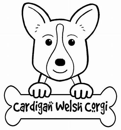 Corgi Coloring Printable Dog Template