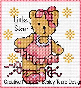 Newborn Color Chart Lesley Teare Designs Teddy Cards For Girls Cross Stitch