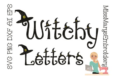 witch letters sofontsy
