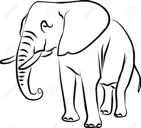elephant clipart black and white bush elephant clipart clipground