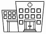 Hospital Coloring Pages Printable Categories Building sketch template