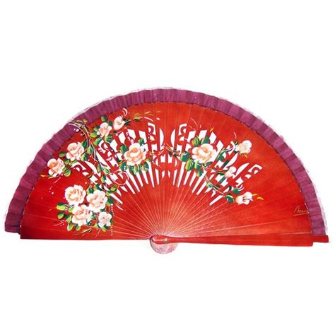 hand fan in spanish spanish painted hand fan exquisite hand fans pinterest