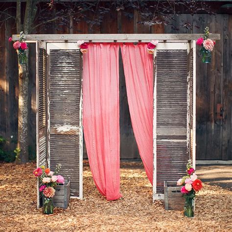 screen decoration at back of altar how to decorate your vintage wedding with seemly useless ladders tulle chantilly wedding