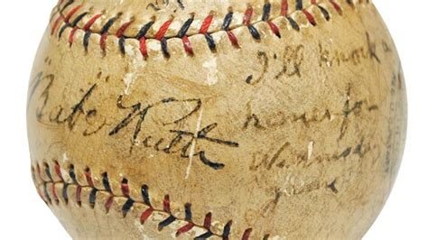 babe ruth autographed baseball sold    auction