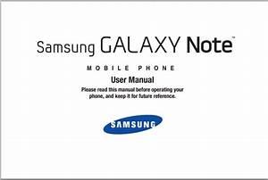 Samsung Galaxy Note Manual - Sgh-i717 Guide