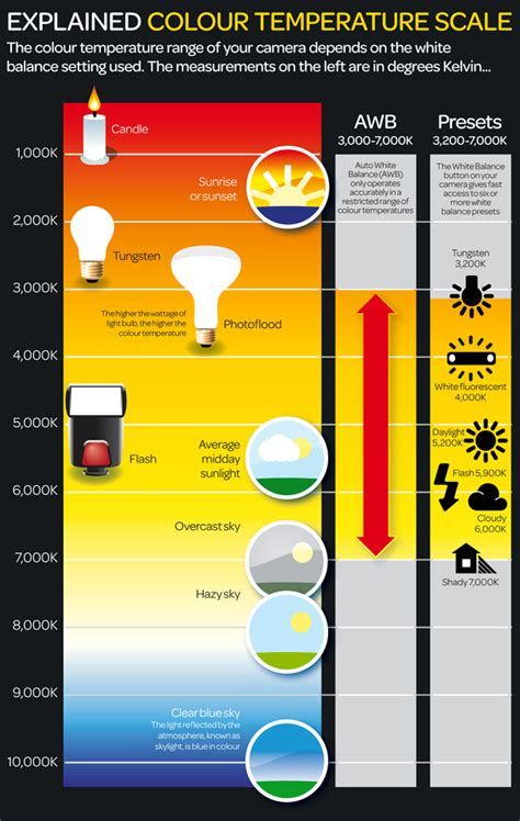 An Infographic on Color Temperatures