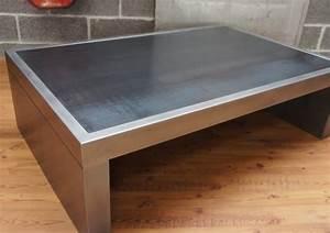 Table Basse Industrielle Carrée : table basse industrielle table metal table basse design ~ Teatrodelosmanantiales.com Idées de Décoration