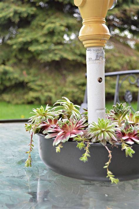 hometalk succulent patio table planter