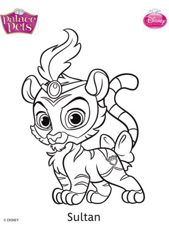 palace pets sultan coloring page  printable coloring