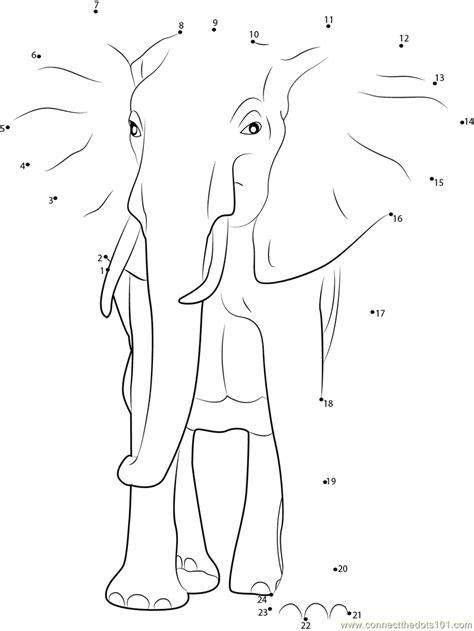 dot  dot elephant neo coloring