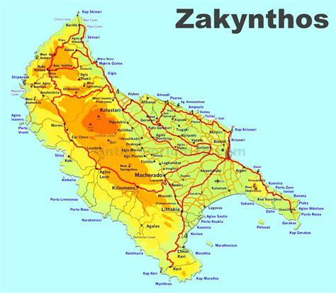 zakynthos travel map