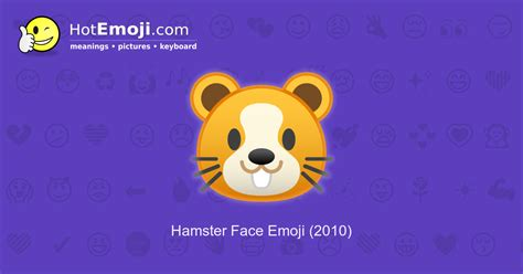 hamster face emoji meaning  pictures