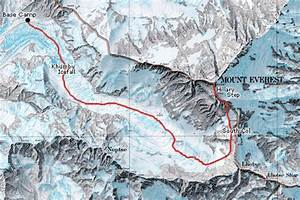 Location Of Khumbu Icefall At Mt Everest