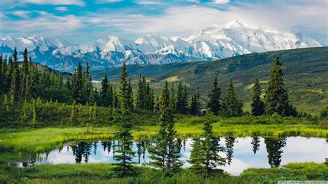 Alaska Range, Beautiful Mountain Landscape 4k Hd Desktop