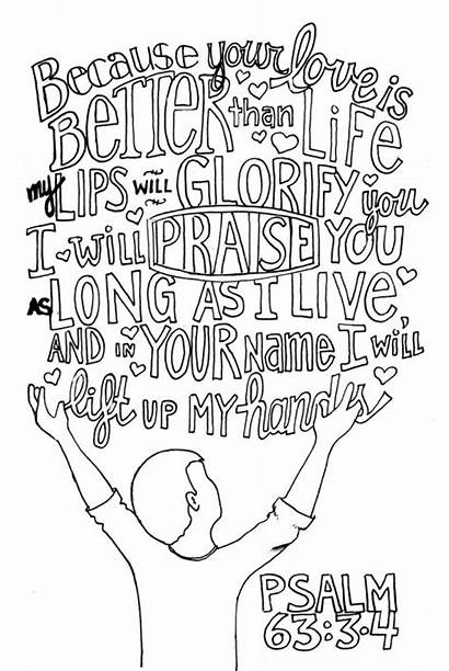 Coloring Pages Praise Psalm Bible Psalms Adult