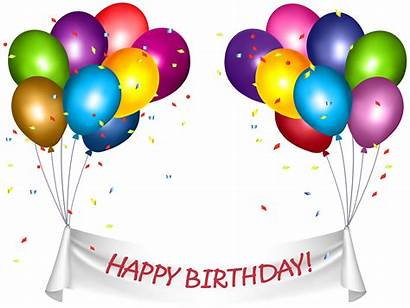 Birthday Transparent Happy Banner Clip Clipart Baloons