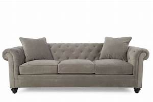 Sofa B Ware Online : contemporary button tufted 92 sofa in gray mathis ~ A.2002-acura-tl-radio.info Haus und Dekorationen