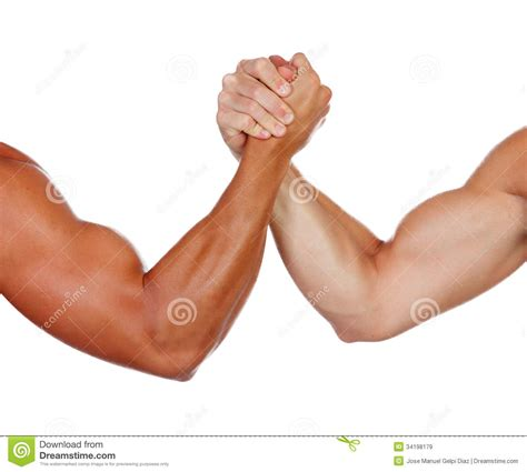 Two Powerful Men Arm Wrestling Royalty Free Stock Images ...