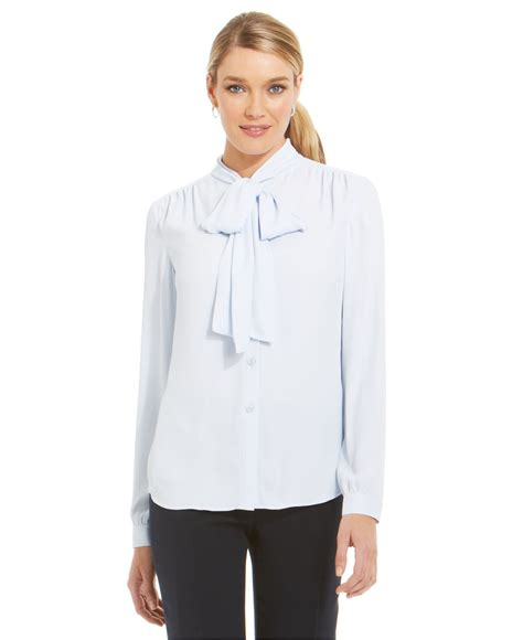 jones of york blouses jones york collection gathered shoulder bow neck
