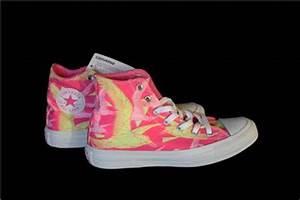 Converse Trendy Neon Pink & Yellow BIRDS OF PARADISE HI