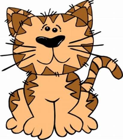 Cat Cartoon Sitting Gerald Med Clip Clipart