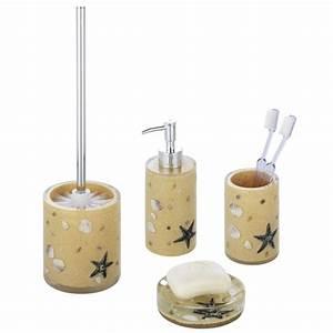 wenko beach bathroom accessories set beige at victorian With beachy bathroom accessories