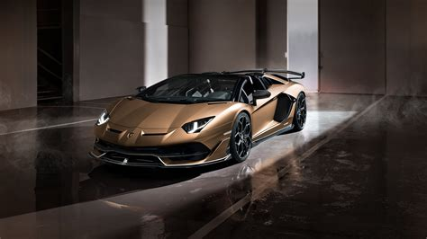 lamborghini aventador svj roadster 2019 4k wallpaper hd