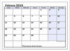 Calendarios febrero 2019 LD Michel Zbinden es