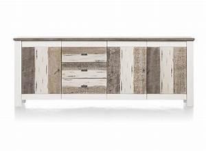 Sideboard 240 Cm : buffet tibro 3 portes 3 tiroirs 240 cm heth ~ Frokenaadalensverden.com Haus und Dekorationen