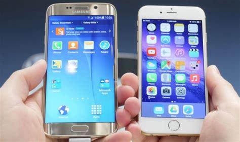 samsung galaxy s6 vs iphone 6 iphone 6 vs galaxy s6 edge qui est le plus rapide