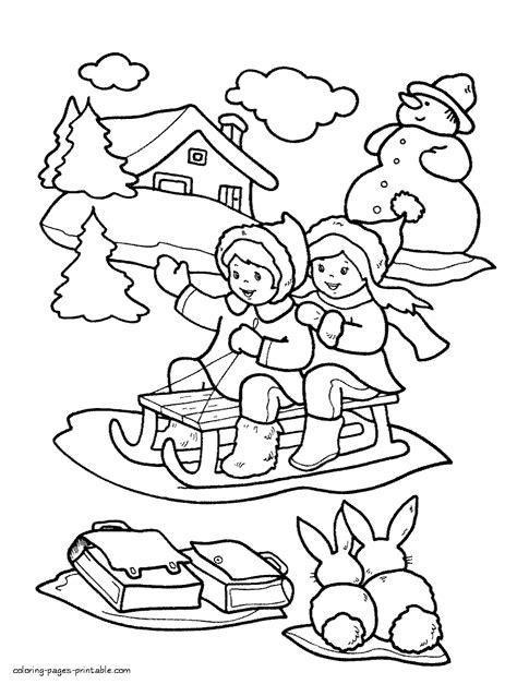 winter coloring pages  kids printable coloring pages