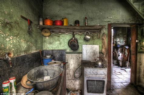 haunting images reveal insides  abandoned belgium home
